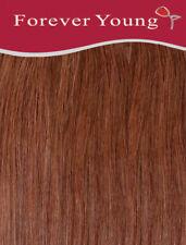 Dark Auburn Clip In Human Hair Extension Full Head #33 Double Wefted