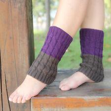 Women Winter Leg Warmers Crochet Knit Boot Socks Toppers Cuffs Popular US