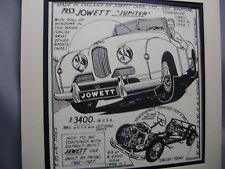 1953 British Jowett Jupiter Auto Pen Ink Hand Drawn  Poster Automotive Museum