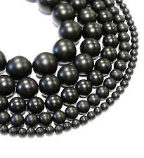 Onyx Perlen Kugeln matt schwarz von 4 - 14 mm Preishammer Bacatus, 1 Strang
