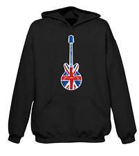 UNION JACK GUITAR HOODY - Britpop Noel Gallagher Epiphone Mod Target T-Shirt
