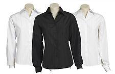 Ladies Long Sleeve Shirt Size 6 8 10 12 14 16 18 20 22 24  Stripe Business