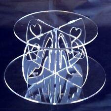 Tacón Alto & diseño de corazón Tarta Redonda SEPARADOR - Disponible