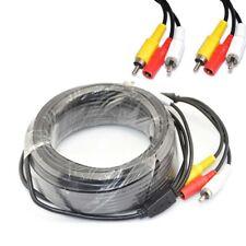 5M,10M,15M,20M,33Ft,30M RCA AV DC Power Extenstion Cable for CCTV DVR SPY Camera