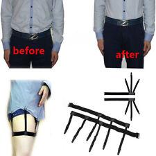 Men's Shirt Stays Holders Elastic Leg Garter with Locking Clamps Non-slip