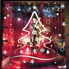 DECO NOËL SAPIN STICKER Déco fenêtre, vitrine de magasin ou mural + 46 étoiles !