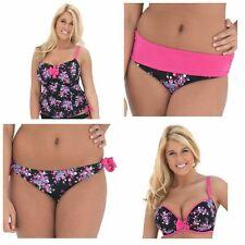 Curvy Kate Moonflower Tankini Top, Padded Bikini Top, Fold or Tie Side Brief