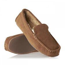 IZOD Men's Micro Suede Tan Slip Resistant Comfort Fit Cushioned Moccasins