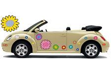 Hippie Blumen Auto Aufkleber Blumenaufkleber Flower Power: Hippie Flower Set 035