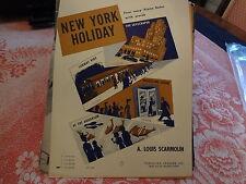 1930s New York Holiday Louis Scarmolin NYC New York City Sheet Music