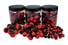 Bi-colour FLUO POP UPS Rojo / Negro 100g 10mm Popups Pop Ups POP-UP