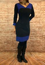 Abendkleid kurz Coctailkleid Herbst Winter Minikleid Kleid 3/4 Arm Gr. 36 38