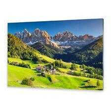 Glasbilder Wandbild Druck auf Glas Dolomiten Berge