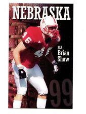 1999 Nebraska Cornhuskers Football Pocket Schedule VB cards -> You Pick 'em