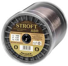 STROFT ABR 1000 m Monofile Angelschnur 0.14 mm bis 0.30 mm Hellbraun transparent