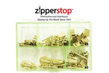 YKK® Assorted 23 Brass Sliders #4.5, 5 & 10 Include Top - Bottom Stops