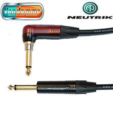 """Van Damme XKE Guitar/Instrument Cable Neutrik 1/4"""" R/A SILENT Jack Connector"""