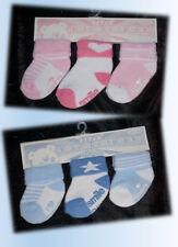 Set 3er Socken Strümpfe Babysocken Erstlingssocken warm dick I love Mummy Daddy
