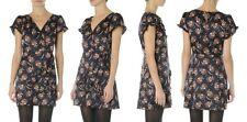 NWT Juicy Couture Fashion Women Ruffle Floral Print Silk Vneck Wrap Dress