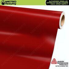 Avery Supreme SATIN CARMINE RED Vinyl Vehicle Car Wrap Film Roll SW900-438-O
