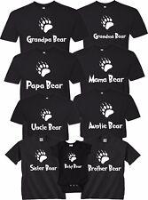Mama Bear Papa Bear Family Bear Christmas Gift  Cute matching T-Shirts