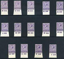 1924 KGV Block Cypher 3d Control Singles S.G. 423