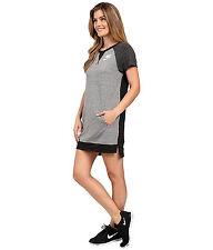 NEW Nike Gym Vintage Tee Women's Dress S  Black Sail Grey
