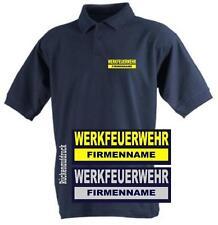Werkfeuerwehr Polo-Shirt / Hemd navy mit Brust- und Rückenaufdruck
