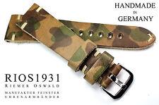CUOIO 22mm watch band RIOS1931 Germania Cinturino Retrò Vintage Camouflage Militare