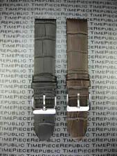 22mm Grain Leather Strap Black Watch Band Thin Light Padding Brown LONGINES II