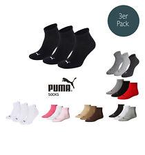 Puma Socken Quarter Sneakers Damen, Herren 3er Pack Größen 35-46 - Farbauswahl