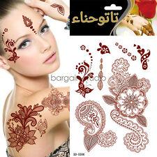 Red Henna Temporary Tattoo Transfer Inspired Tattoo Sticker Fashion Jewellery