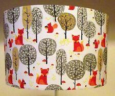 Orange Fox Lampshade Squirrel forest nursery light shade Shabby Chic FREE GIFT
