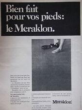 PUBLICITÉ 1970 MOQUETTE ET TAPIS MERAKLON BIEN FAIT POUR VOS PIEDS - ADVERTISING