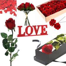 Giorno di S. VALENTINO ROSA ROSSA IN SCATOLA-cuore confetti-RED ROSE Cablato-Love Sign