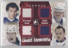 2011-12 #TF-02 Tiger Williams Wade Belak Wendel Clark Dion Phaneuf Hockey Card