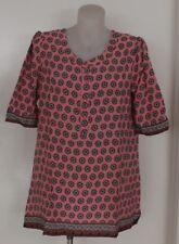 Ladies EVERSUN TUNIC TOP Blouse COTTON Pink PLUS size 10 12 14 16 18 20 Mature