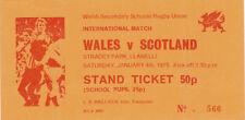 WALES v SCOTLAND SCHOOLS SENIOR UNDER 19 4th Jan 1975 at LLANELLI RUGBY TICKET