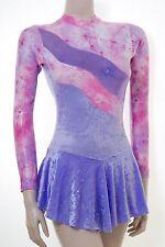 Vestito Pattinaggio Ripple Design Lilla Crush Velluto + Filo-Tutte le taglie disponibili
