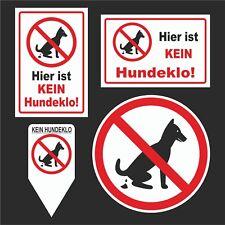 Kein Hundeklo Hundetoilette Schild Privatgrund Hinweis Verbot Hundehaufen kot