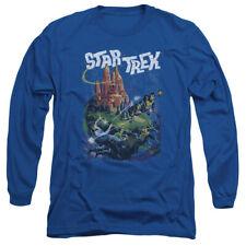 Star Trek TV Series Mr. Spock Vulcan Battle Adult Long Sleeve T-Shirt Tee