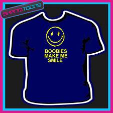 Boobies Make Me Smile Adultos Para Hombre Funny lema Regalo Camiseta