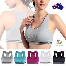 7dd8e394d0 Women Racerback Sports Bra Yoga Fitness Padded Stretch Seamless Gym Tank Top