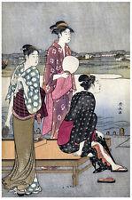 Japanese POSTER.Stylish Graphics. Geisha Fashion. Asian Room Decor. 134i