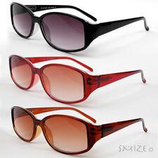 New Classic Sun Readers Full Lens Spring Hinges Oval Reading Sunglasses 100-350
