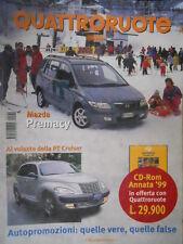 Quattroruote 532 2000 Mazda Premacy.Al volante della PT Cruiser.Nuova LanciaY