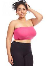 Womens Plus XL,1X,2X,3X,4X Soft Bandeau Bra Seamless Strapless Tube Top !