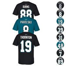 78c57807f San Jose Sharks NHL Reebok Player Name   Number Premier Jersey T-Shirt Men s