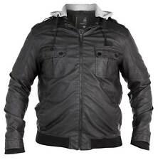 ** nuevo ** para hombre de gran tamaño Duque Split Star de cuero suave mirada chaqueta - 3xl 4xl 5xl 6xl