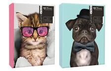 """Pug or Kitten Photo Album 200 4x6"""" 104 5x7"""" 80 4x6"""" Photos or Self Adhesive"""